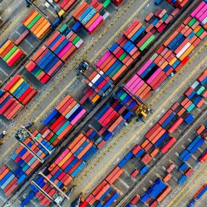 Canva - Aerial Photography of Container Van Lot
